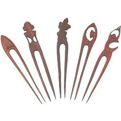 Haarnadel aus Holz (Sonor-Wood), Haarschmuck, Anzahl:1 Stück
