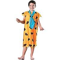 Costume Fred Flintstone bambino - Colore - Arancione, Taglia - Small 3 - 4 Anni 116 cm