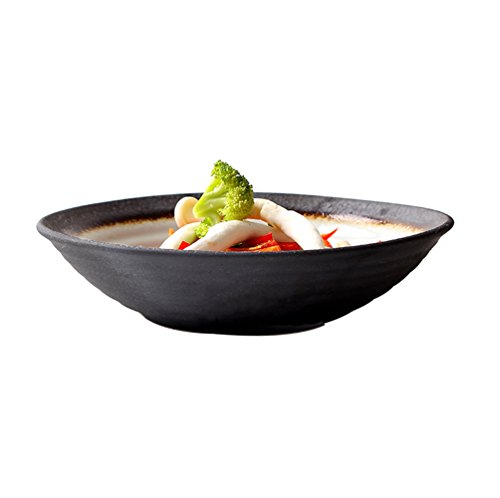Eetirsd - Ciotola giapponese in ceramica per zuppe, noodle, salse, ristorante, frutta, insalata, sushi, ciotola per riso