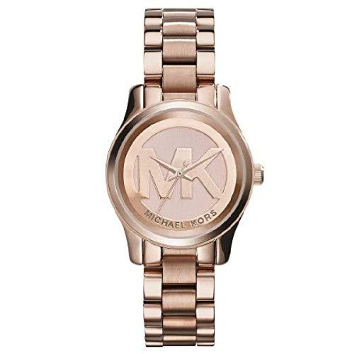 Michael Kors Damen Analog Quarz Uhr mit Edelstahl Armband MK3334
