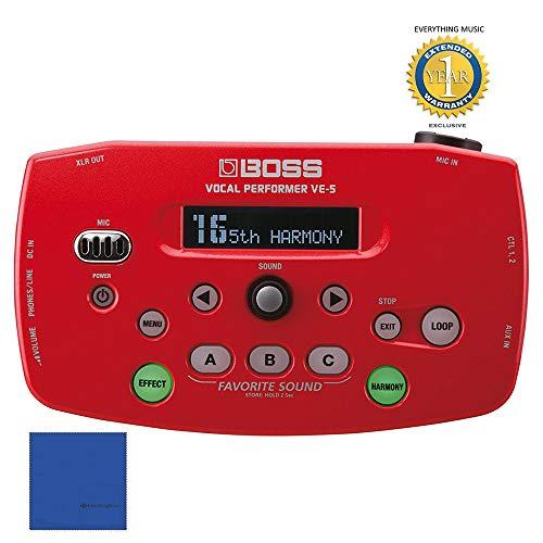 BOSS VE-5 Vocal Performer Effetti Processore Red