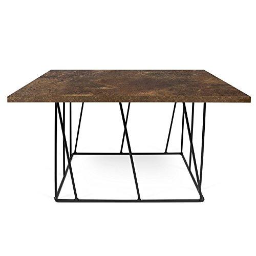 Paris Prix - Temahome - Table Basse Helix 75cm Rouille & Métal Noir