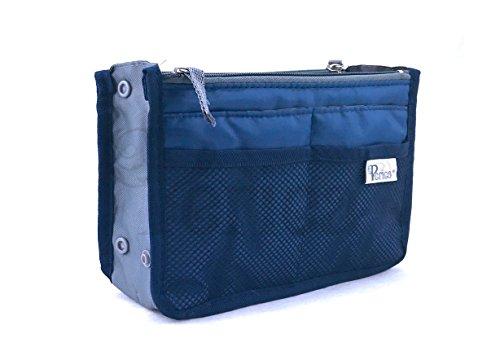 Periea Handbag Organiser, 12 Compartments - Chelsy (18 Colours, 3 Sizes) (Small, Royal Blue)
