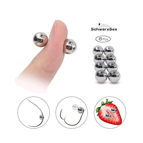 4 Pairs Starke Magnetkugeln Nippelklemmen Set Erwachsene Spiele Für Paare Flirten Klitoris Stimulator Hodensack Massage Sexspielzeug