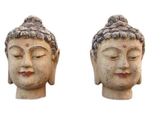 China 1920 2 x tête femmes portraet sculpture sculpture blauglockenbaum 2 au choix
