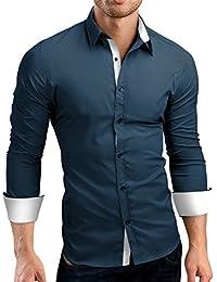 Grin&Bear coupe slim contraste chemise homme, SH510