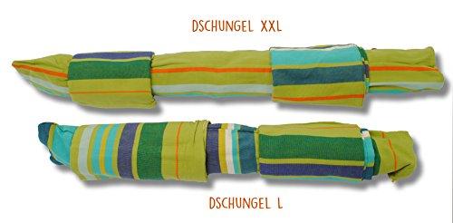 Hängesessel mit Kissen von HOBEA-Germany in verschiedenen Farben, Größe Hängesessel:L (bis 120kg belastbar);Farben Hängesessel:Dschungel - 2