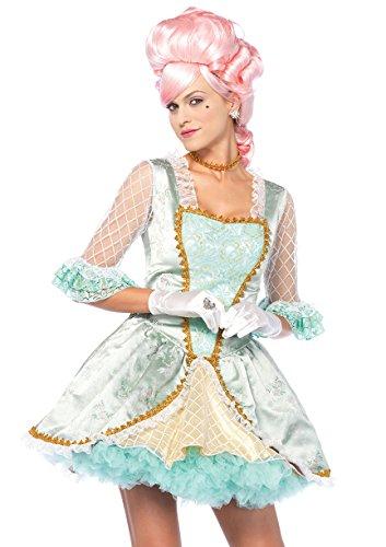 Leg Avenue 8557402135 85574-3 Tl Deluxe Marie Antoinette Set, Grün/Gold, M, Damen Fasching Kostüm, Größe: M (EUR - Marie Antoinette Kostüm