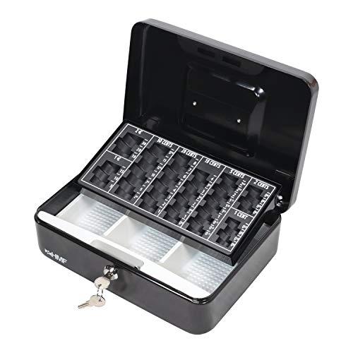 HMF 10022-02 Geldkassette Geldzählkassette 25 x 18 x 9 cm, schwarz