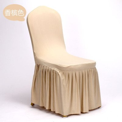 ZOYOE-Dining room chair hotel dining room chair coverings stretch conjoined wedding wedding set Hotel Banquet Chair