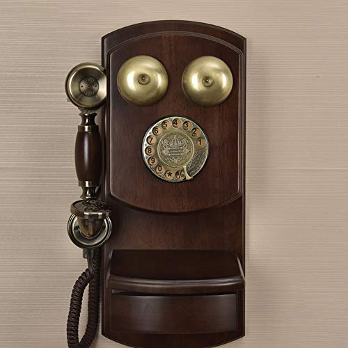 MENGJF Retro Telefon Büro Haushalt Wohnzimmer Kreative Wand drehbare Version Festnetztelefon (Size : Single Ringtone)