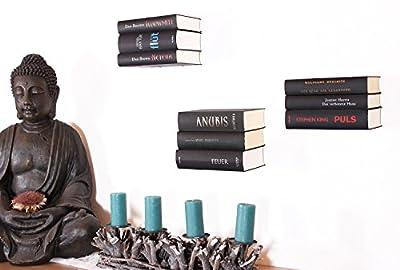 3er Set Schwebende Bücher: unsichtbares Regal für Bücher, originelle Bücherstütze mit bis zu 10kg Tragkraft, stapelbarer Buchhalter