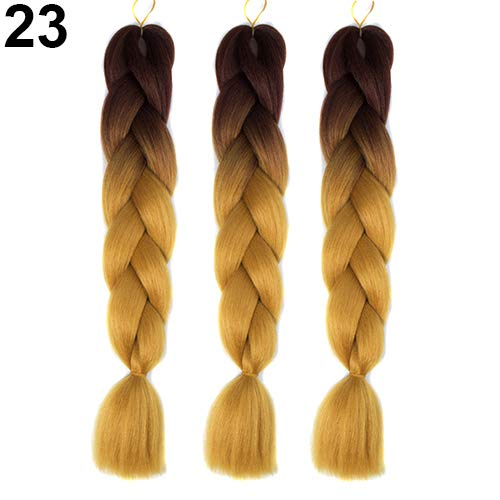 Kuizhiren1 Braid Hair for Women, 1 Stück Afrikanische Blackman Color Gradient Braid Hair Extensions, Flechtperücke - (Hair Extensions Kostüm)