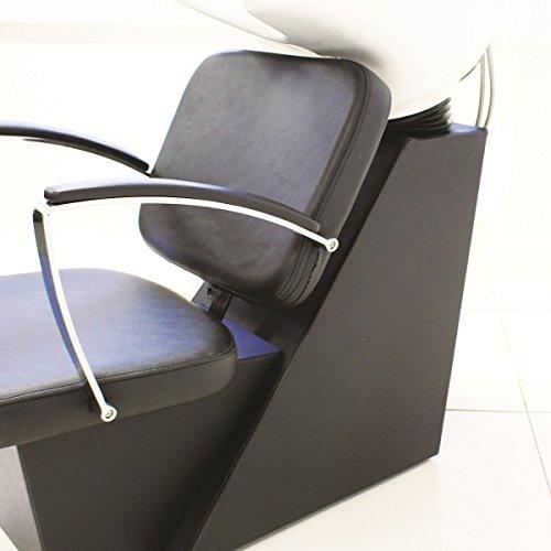 4 Piece Black Hair Salon Backwash Unit & Chair Furniture Set