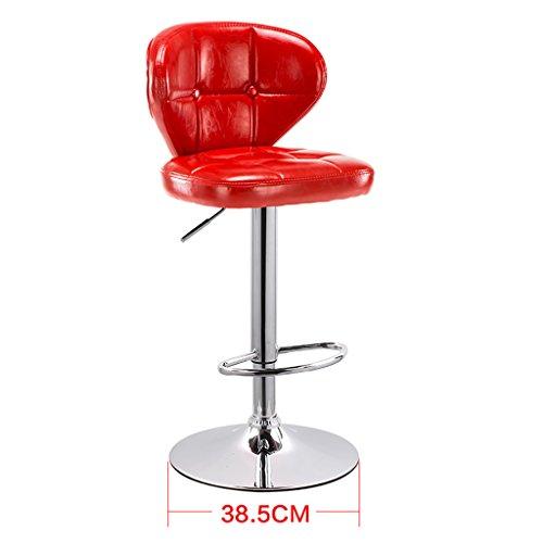 Chaise à gaz Chaise à récurer Tabouret à Dossier réglable Chaise à Manger Style européen Rotate Barstool LI Jing Shop (Couleur : Red)