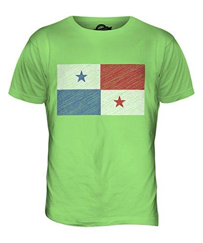 CandyMix Panama Kritzelte Flagge Herren T Shirt Limettengrün