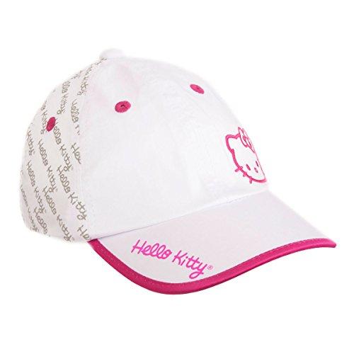 Hello Kitty Sports Damen Premier Collection Script Hat, Damen, White/Magenta, Medium Hello Kitty Baseball