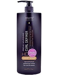 Deutte Curl Definer Crème d'argan–Elixir lumière Cheveux naturels à boucler Crème pour cheveux bouclés 230ml