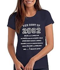 Idea Regalo - Da Londra Maglietta da Donna The Best of 2002