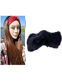 Amazon.it  Fascia capelli lana - Blu   Donna  Abbigliamento 2bc2f8a1aa19
