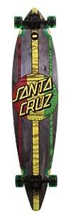 "Santa Cruz Longboard Mahaka Rasta 23 cm (9,9'') Noir Noir/rouge/jaune/vert 9.9 x 43.5"" (25,14 x 110,49 cm)"