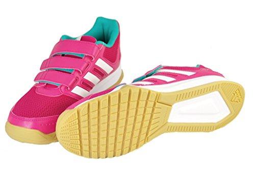 adidas Kinder Indoor Schuhe Interplay CF Pink / Weiss / Mint -31 (EU)