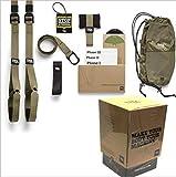 ZLQF Home Kit Suspension Trainer Home Attrezzo per Fitness, Unisex Adulto, Verde Militare