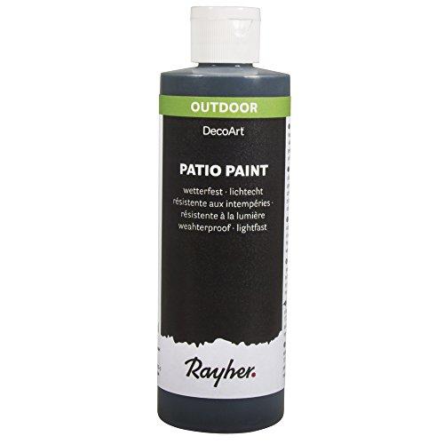 Patio Stein (RAYHER 38611576, Patio-Paint, Flasche 236 ml, schwarz)
