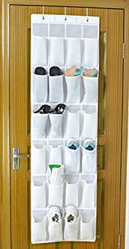 Bekith 24-pocket Over-the-door Organizer, Shoe Storage Bag, Shoe Rack, Shoe Storage Rack, White 2