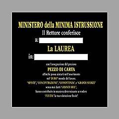 Idea Regalo - BOMBO S.N.C. DI MARKOV IVAN RADE & C. Carta IGIENICA Laurea Minima ISTRUSSIONE