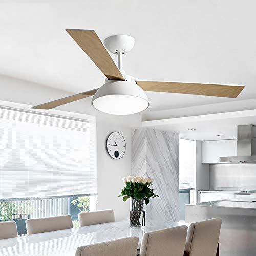 WWLONG Ventilador de Techo diseño de hélice Moderno Ventilador de Techo con 3 Cuchillas de Madera...