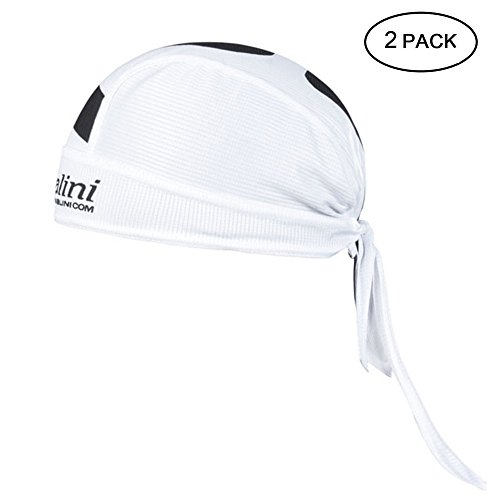Feilaxleer 2 Quick Dry Cycling Hats, Scarf Head Scarf Pirate Cap for Men / Women for Outdoor Sports, White
