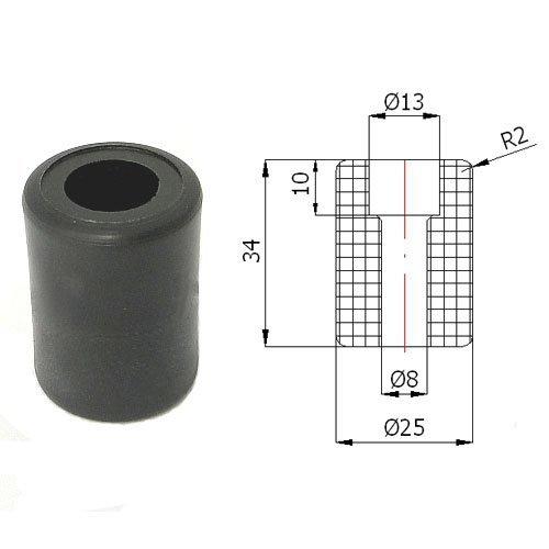 Zabi Führungsrolle - Nylon Kunststoff-Führungsrollen für Schiebetore Ø 25mm