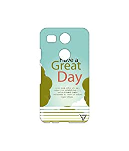 Vogueshell Have a Great Day Printed Symmetry PRO Series Hard Back Case for LG Nexus 5X