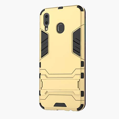 3Ciker Hülle Kompatibel mit Samsung Galaxy M20,2in1 TPU+PC Dual Layer Hybrid 360 Grad Fall Metallständer Ständer Doppelschicht Stoßfest Hard case Drop Resistance Test Bumper (5)