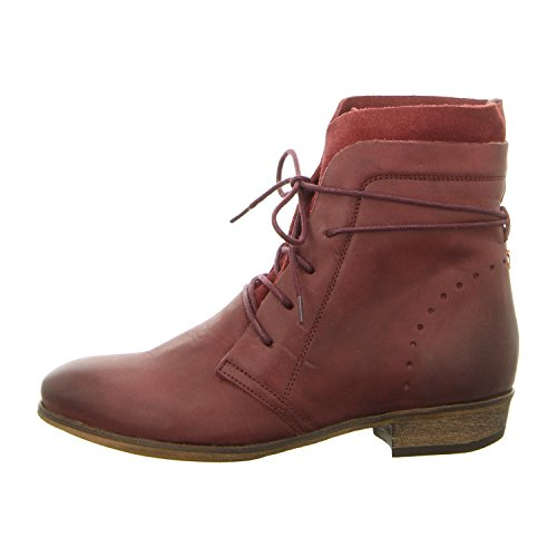 HUB, Damen-Stiefelette, HALLY N80 Burgundy/Natural 063