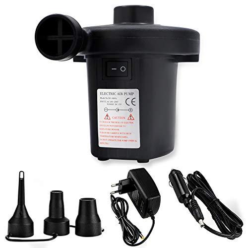 Taste Pumpe (Trounistro Elektrische Luftpumpe, 2 in 1 Elektrische Pumpe Multifunktion Elektropumpe Power Pump Inflator Deflator mit 3 Luftdüse Kompressor für Luftmatratzen, Home, Camping)