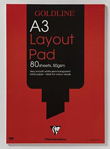 Goldline Layout Pad Bank Paper - Papel para dibujo técnico (80 hojas A3)
