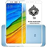 Azzil Tempered Glass, [White 5.7-inch] Premium Real 5D 9H Anti-Fingerprints & Oil Stains Coating Hardness Screen Protector Guard For Xiaomi Redmi 5