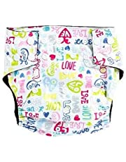 Tinytots Baby Reusable Washable Chemical Free, Leak Free, Charcoal Bamboo Pocket Cloth Diapers - Love