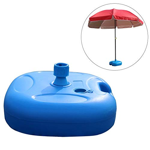 Umbrella Base Stand - Heavy Duty 20L Square Water Filled Patio Outdoor Weight with Steel Umbrella Holder Suit for Diameter 22MM to 32MM Umbrella Pole - Heavy Duty Umbrella Holder