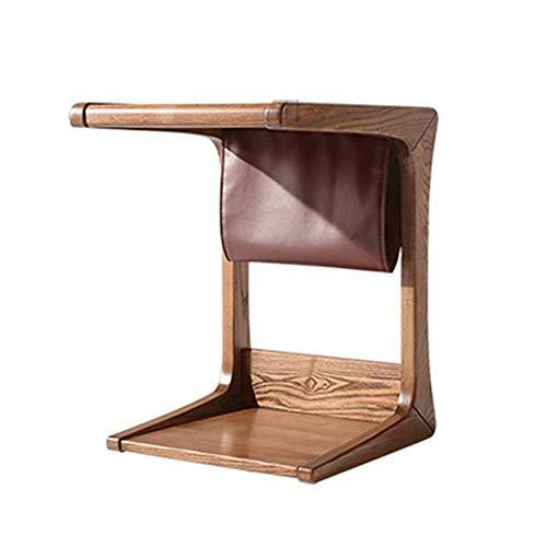 YueQiSong Modern Minimalist Parlour Sofa Side Table/Desk Parlour Sofa Side Table Wooden Coffee Table Laptop Table Storage Shelf, Ash Wood