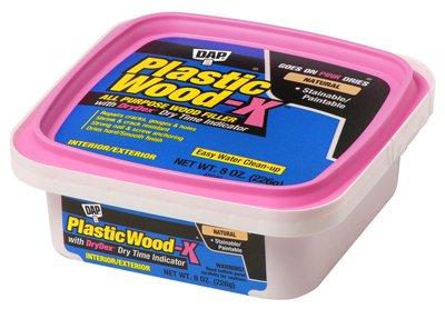 Plastic Wood Latex Filler X W/Dry Time Indicator 8oz-