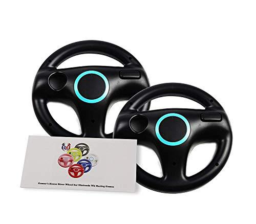 Wii U Wii Lenkrad Original Weiß für Rennspiele Mario Kart Racing Wheels schwarz 2 Pack Bomb Black (Kart Mario Wheel Racing 8)
