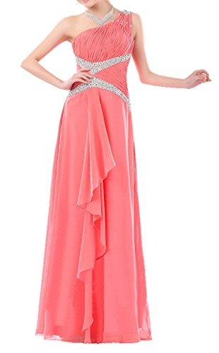 Eyekepper robe longue robe de soiree fete party spectacle demoiselle d'honneur robe femmes Corail