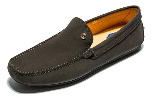 OPP Herren Minimalism Komfort Weich Echtleder Fahren Schuhe Grau