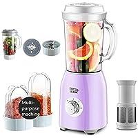 Li.Du Multifonctions Blender,Nourriture pour bébés mixeur,Presse-Agrumes Automatique pour Milkshake aux Fruits et légumes, avec 3 Tasses 2 Couteaux & Filtre,800W,Purple