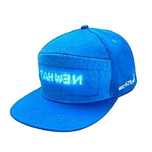 MonLook LED Light Up Hat Bunter LED Cap Cooler Hut mit Screen Light Wasserdicht Smartphone gesteuert (Light Hat Up)