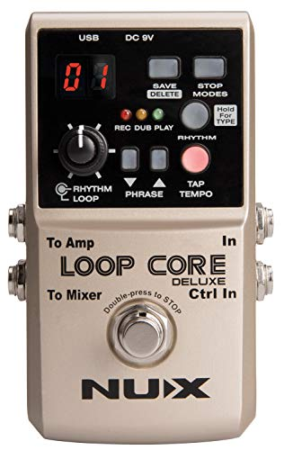 NUX Loop Loop Core Deluxe 24-Bit Looper Pedal Bundle - Guitar FX