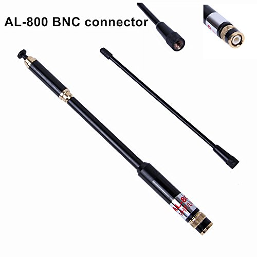 Walkie Talkie Antenna HuaNuo AL-800 VHF/UHF BNC Extendable Antenna Dismountable Long Range Antenna for Kenwood TK200 TK210 / TYT HYT/ICOM IC - V8 IC - V80 / Yaesu/Vertex Two Way Radio -